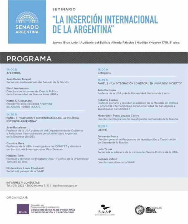"""Seminario """"La inserción internacional de la Argentina"""""""