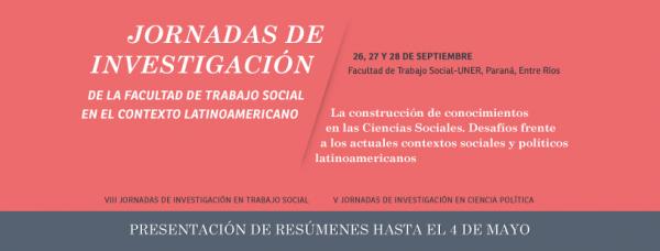III Jornadas de Investigación de la Facultad de Trabajo Social de la UNER