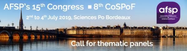 15º Congreso de la Asociación Francesa de Ciencia Política (AFSP) 2019